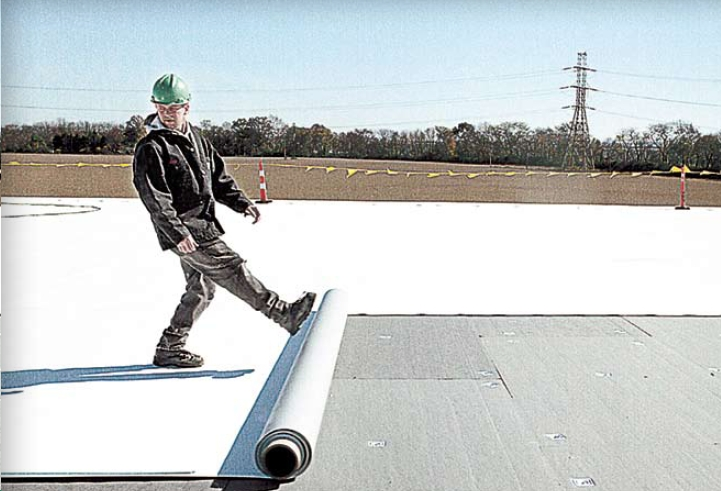 Rolling Out Thermoplastic Roofing